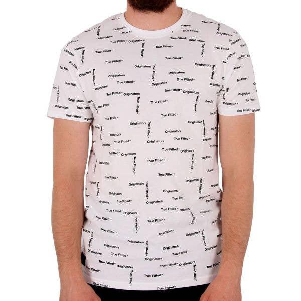 New Era Originators All Over T-Shirt - White XL
