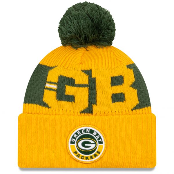 New Era Green Bay Packers NFL Cold Weather Sport Knit Beanie - Original Team Colours