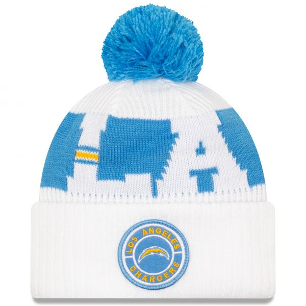 New Era Los Angeles Chargers NFL Cold Weather Sport Knit Beanie - Original Team Colours