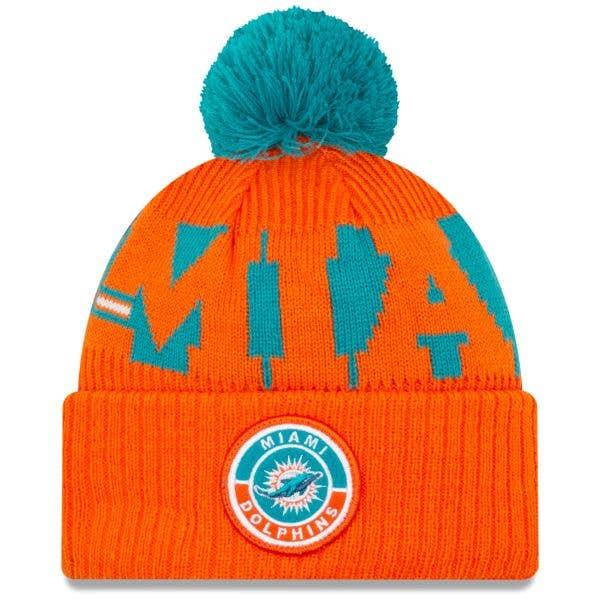 New Era Miami Dolphins NFL Cold Weather Sport Knit Beanie - Original Team Colours