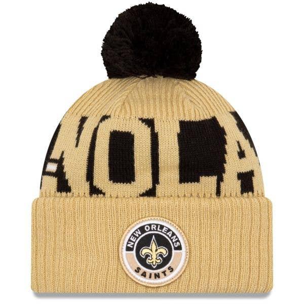 New Era New Orleans Saints NFL Cold Weather Sport Knit Beanie - Original Team Colours