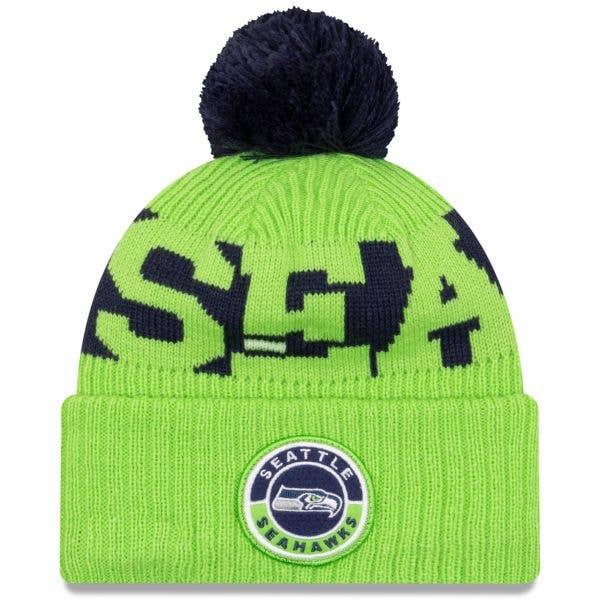 New Era Seattle Seahawks NFL Cold Weather Sport Knit Beanie - Original Team Colours