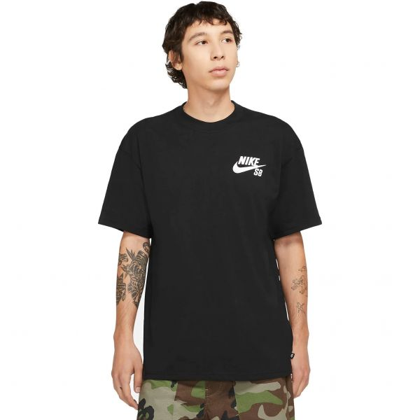 Nike SB Logo T Shirt - Black/White