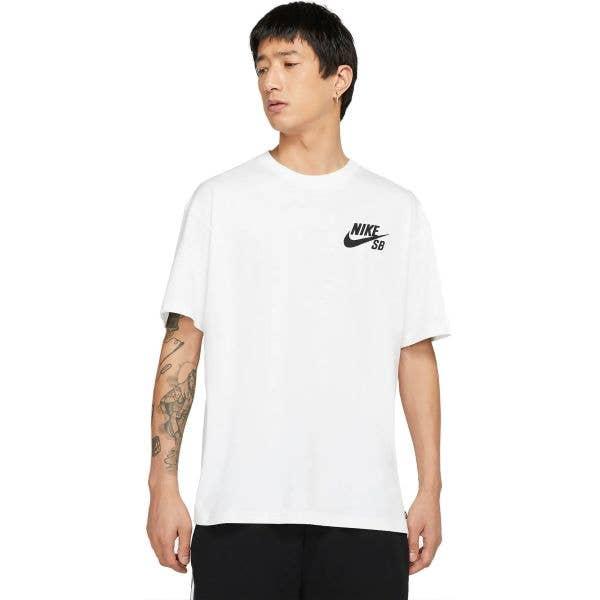 Nike SB Logo T Shirt - White/Black