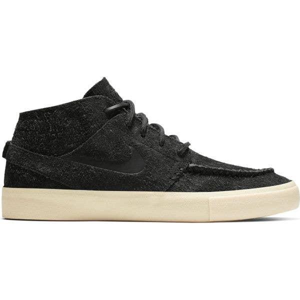 Nike SB Zoom Janoski Mid Crafted Skate Shoes - Black/Black-Golden Beige-Team Gold