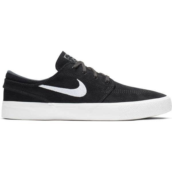 Nike SB Zoom Janoski RM Skate Shoes - Black/White-Thunder Grey-Gum Light Brown