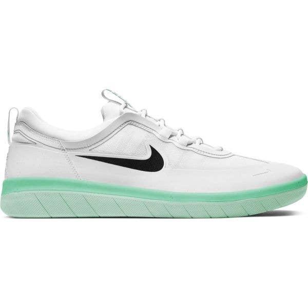 Nike SB Nyjah Free 2.0 Skate Shoes - Summit White/Black-Summit White