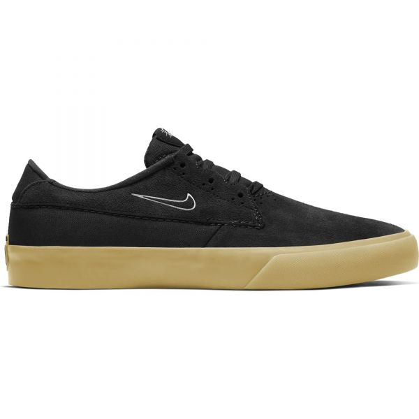 Nike SB Shane Skate Shoes - Black/White-Black-Black