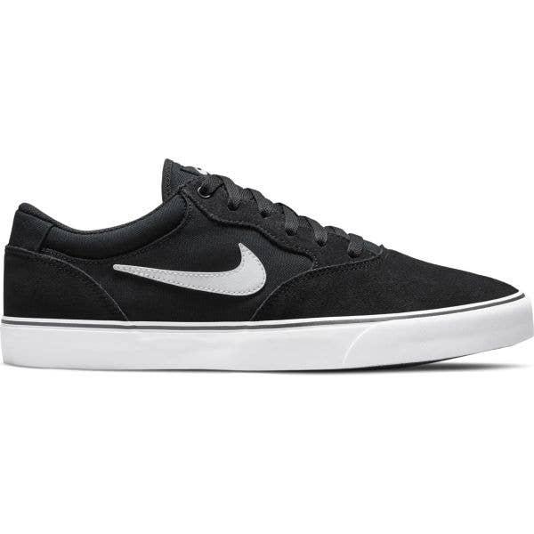 Nike SB Chron 2 Skate Shoes - Black/White-Black
