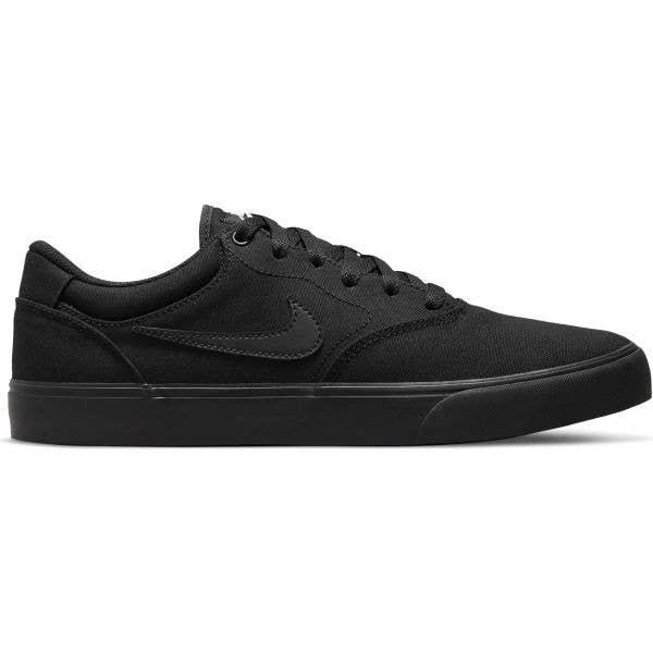 Nike SB Chron 2 Canvas Skate Shoes - Black/Black-Black