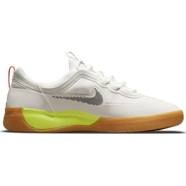 Nike SB Nyjah Free 2 Skate Shoes - Summit White/Black-Bright Crimson
