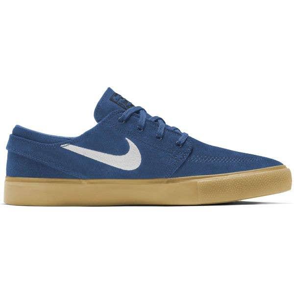 Nike SB Zoom Stefan Janoski RM Skate Shoes - Court Blue/White-Court Blue