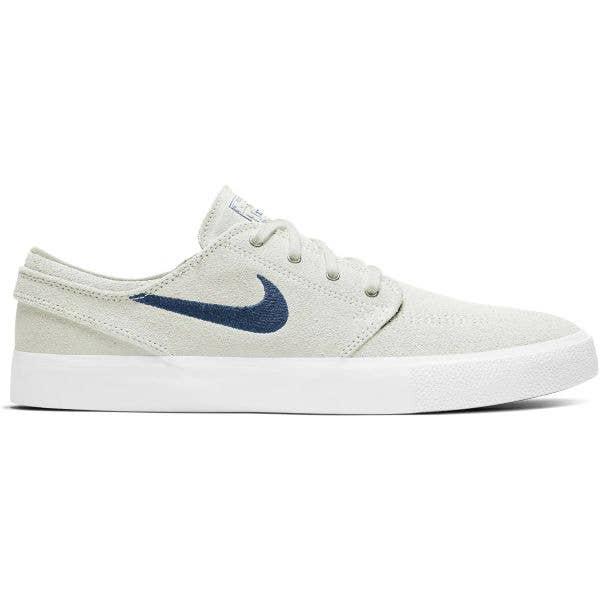 Nike SB Zoom Stefan Janoski RM Skate Shoes - Summit White/Court Blue-Summit White