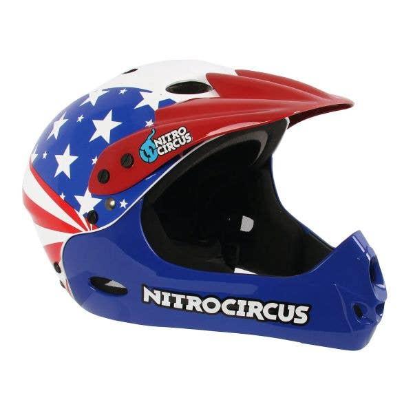Nitro Circus H12 - Stars & Stripes Full Face Helmet - Red/White