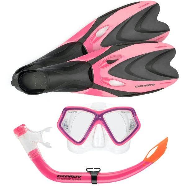 Osprey Junior Snorkel Set - Pink 1-3