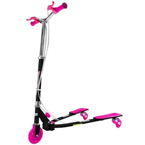 Ozbozz Scissor Scooter - Black/Pink