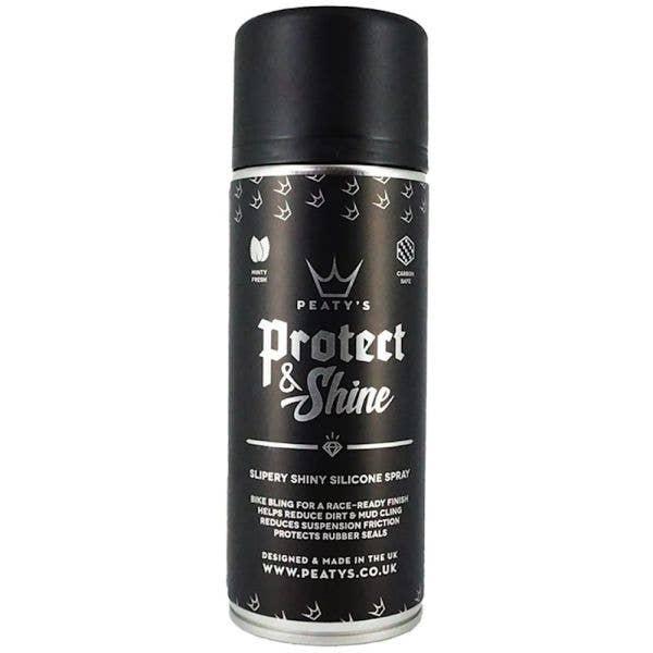 Peatys Protect & Shine Silicone Spray 400ml Aerosol Bike Cleaner