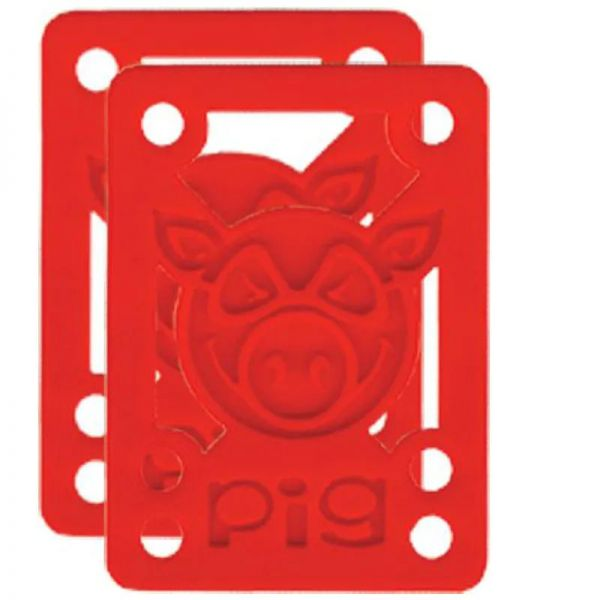 Pig Piles Riser Pads 1/8` - Red
