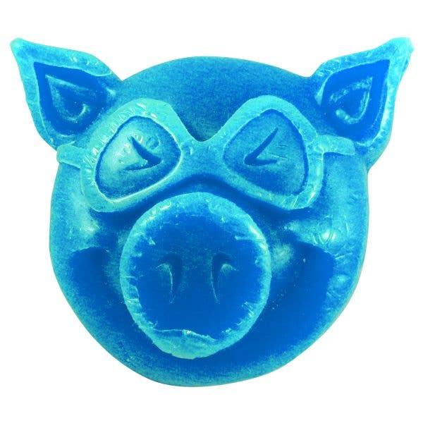 Pig Wheels Head Skateboard Wax - Blue