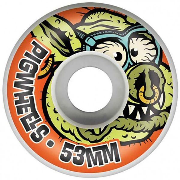 Pig US Made Toxic Skateboard Wheels 53mm - Orange