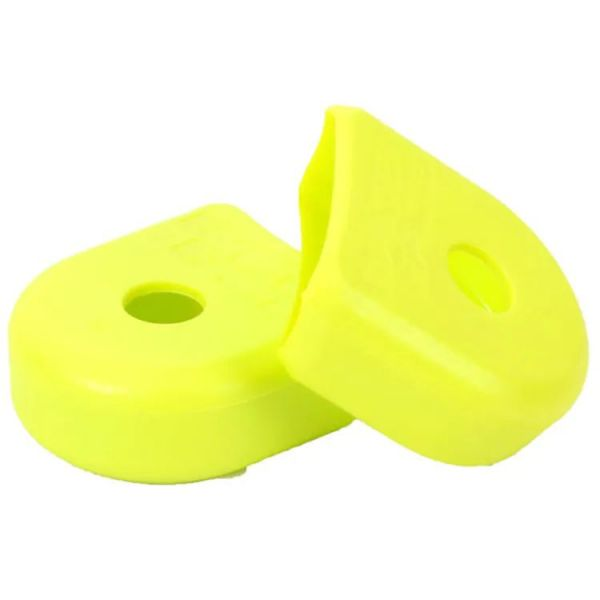 Race Face 2021 Alloy Crank Boots - Yellow (2 Pack)