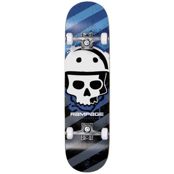Rampage Bonehead Complete Skateboard 8'' - Blue