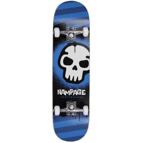 Rampage Graffiti Skull Complete Skateboard 8''