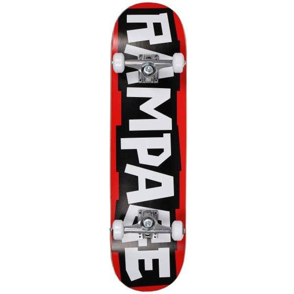 Rampage Block Logo Complete Skateboard 7.75''