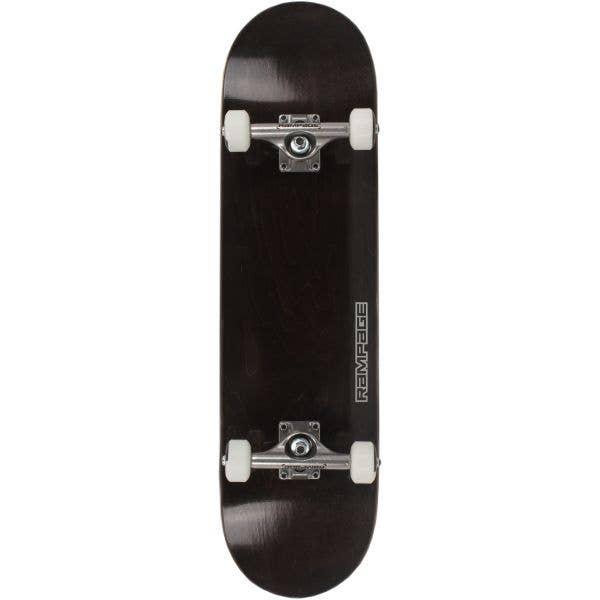 Rampage Stain Complete Skateboard - Black 8''