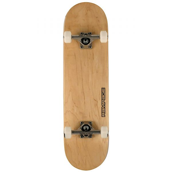 Rampage Stain Complete Skateboard - Natural 8''