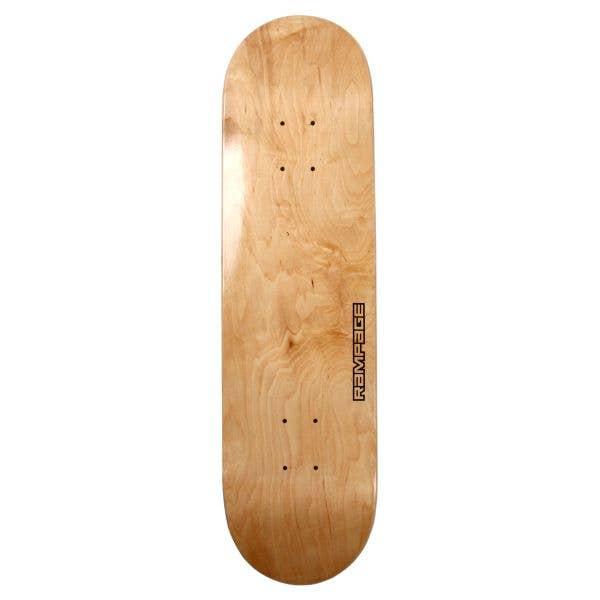 Rampage Skateboard Deck 8'' - Natural