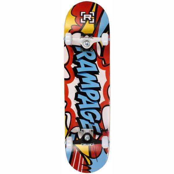 Rampage Comic Art Complete Skateboard - Blue 8''
