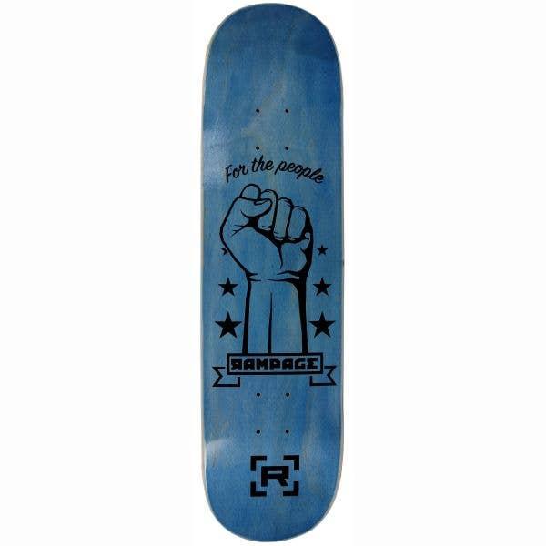 Rampage FTP Skateboard Deck - Blue 8''