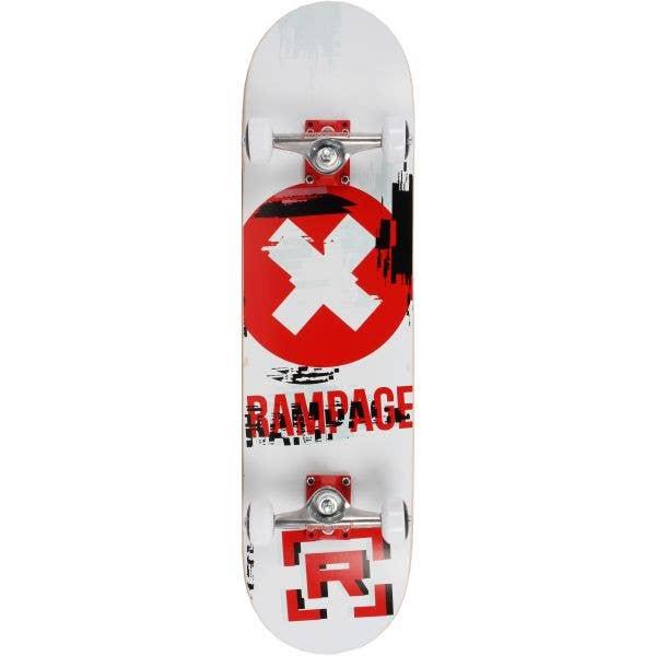 Rampage Glitch Delete Complete Skateboard - White 8''