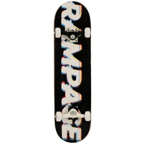 Rampage Glitch Logo Complete Skateboard - Multi 8''