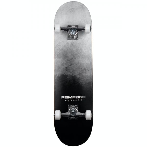 Rampage Mist Fade Complete Skateboard - Black 8''
