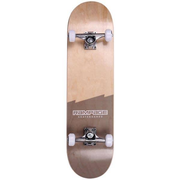 Rampage Plain Third Complete Skateboard - Natural/Black 8''