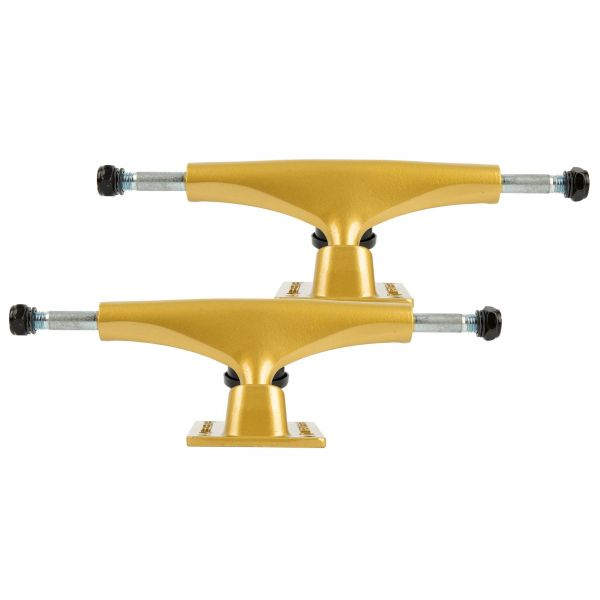 Rampage Rasp Skateboard Trucks - Gold 5''