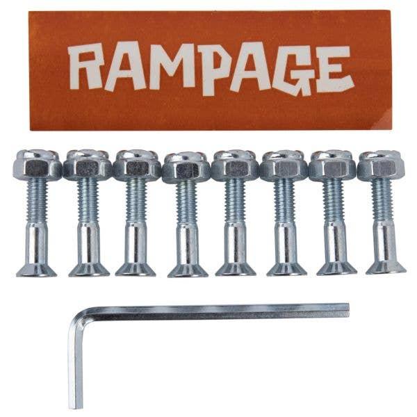 Rampage 1'' Skateboard Truck Bolts - Silver
