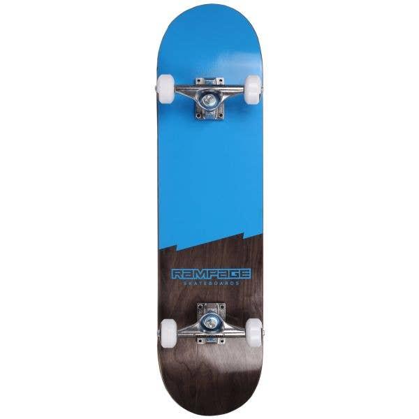 Rampage Plain Third Complete Skateboard - Blue/Black 7.75''