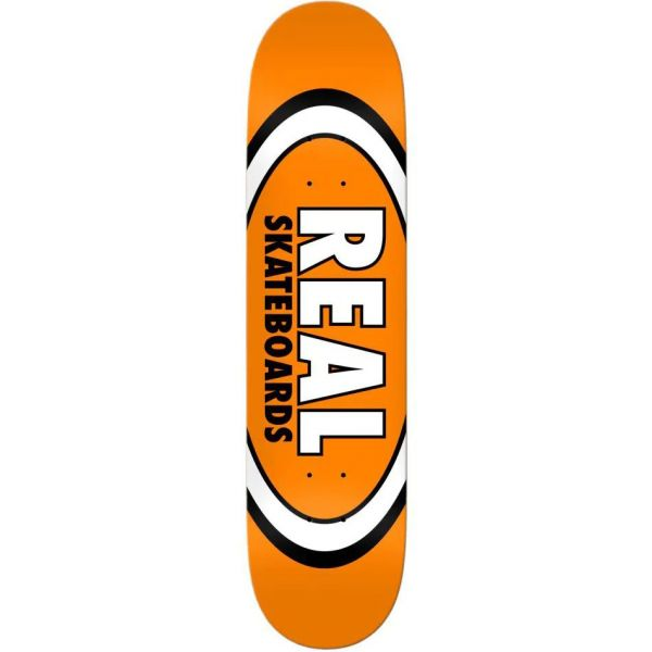 Real Team Classic Oval True Mid Skateboard Deck - Orange 7.5''