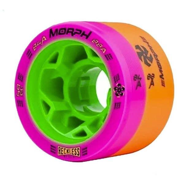 Reckless Morph Dual Durometer Derby Wheels-84/88A Pink