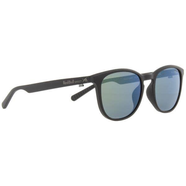 Red Bull SPECT Eyewear Steady Sunglasses - Matt Black/Smoke with Green Mirror