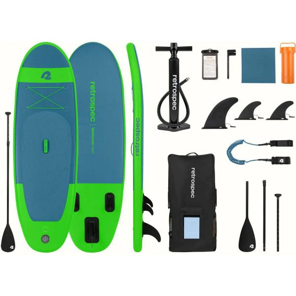 Retrospec Nano SL 8' Inflatable Paddle Board - Marine Blue
