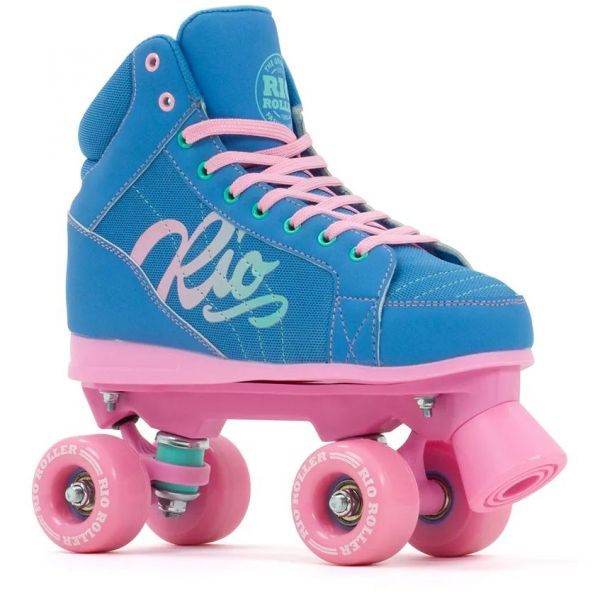Rio Roller Lumina Quad Roller Skates - Blue/Pink