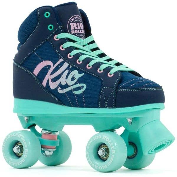 Rio Roller Lumina Quad Roller Skates - Navy/Green