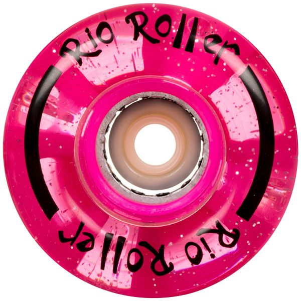 Rio Roller Light Up Quad Roller Skate 54mm Wheels- Pink Glitter