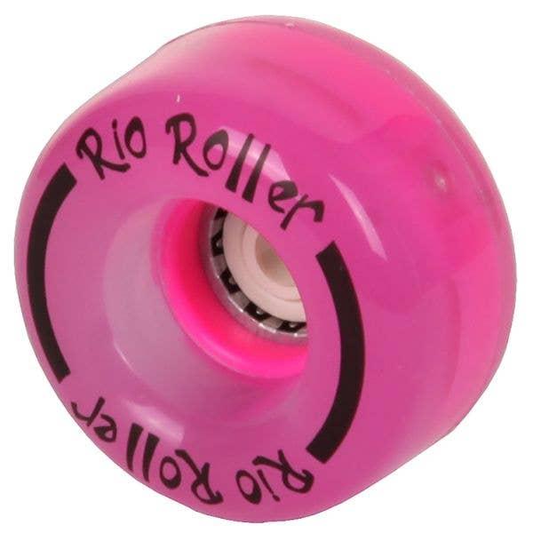 Rio Roller Light Up Quad Roller Skate Wheels- Pink