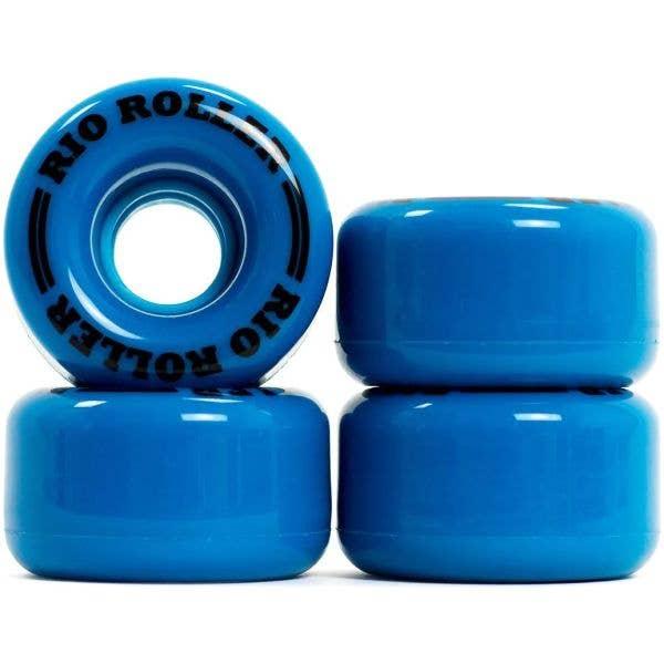 Rio Roller Quad Skate Coaster Wheels - Small 55mm - Blue