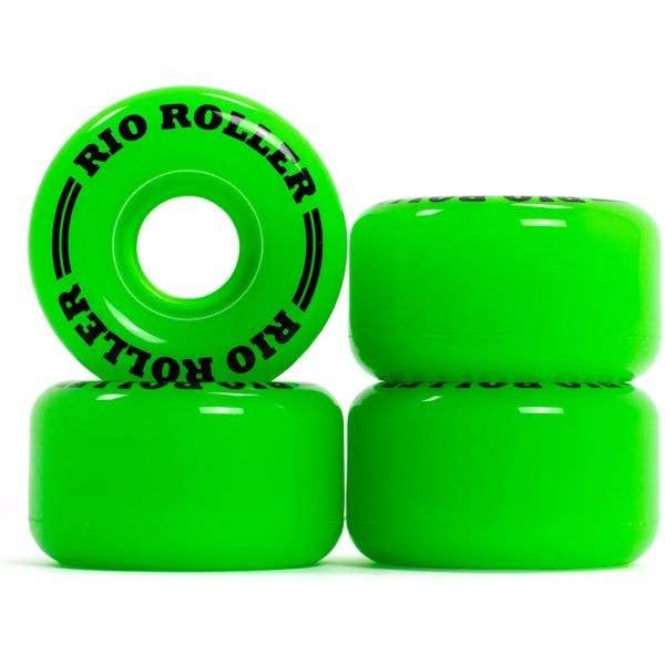 Rio Roller Quad Skate Coaster Wheels - Small 55mm - Green